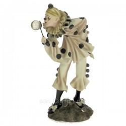 Clown arlequin bulle en résine hauteur 21,2 cm, reference CL47001037