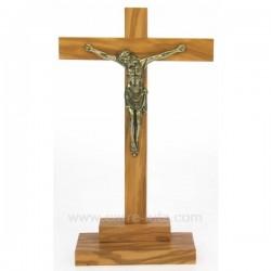 Christ calvaire bois d olivier Cadeaux - Décoration CL48200105, reference CL48200105