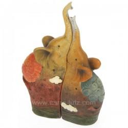 SET DE 2 ELEPHANTS EMBOITABLES Cadeaux - Décoration CL49900012, reference CL49900012