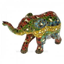 Elephant mosaique A Cadeaux - Décoration CL49900026, reference CL49900026