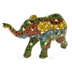 Elephant mosaique C Cadeaux - Décoration CL49900028, reference CL49900028
