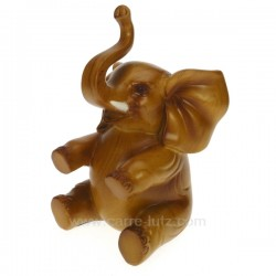 Elephant assis facon teck Cadeaux - Décoration CL49900034, reference CL49900034