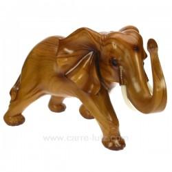 Elephant GM facon teck Cadeaux - Décoration CL49900036, reference CL49900036