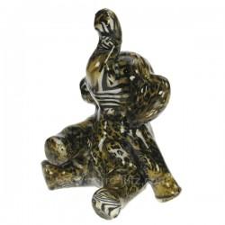 Elephant assis leopard Cadeaux - Décoration CL49900038, reference CL49900038
