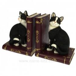 Serre livre chats noir & blanc Cadeaux - Décoration CL50000048, reference CL50000048