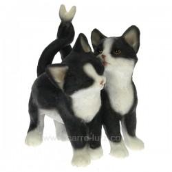 Couple chat noir et blanc Léonardo Collection CL50001036, reference CL50001036