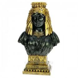 Buste Cléopatre noir et or en résine couleur noir et or, reference CL50030134