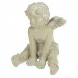Ange assis gris mains devant Cadeaux - Décoration CL50060020, reference CL50060020