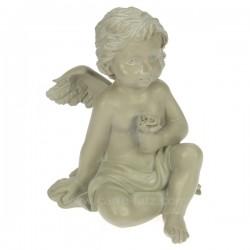 Ange assis gris a la rose Cadeaux - Décoration CL50060023, reference CL50060023