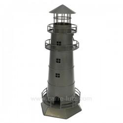 phare en metal gris Thème marine CL50072006, reference CL50072006