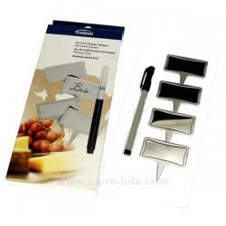 Boite 4 marques fromage inox Arts de la table CL50120102, reference CL50120102