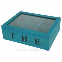 Boite a the turquoise Arts de la table CL50150500, reference CL50150500