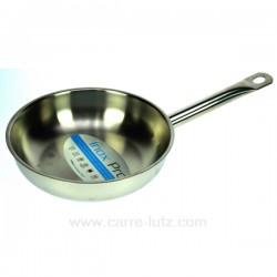Poele inox professionnel 24 cm Batterie de cuisine diverse CL50155026, reference CL50155026