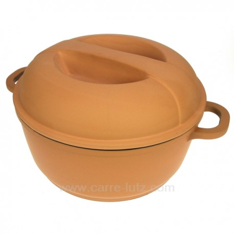 Faitout en fonte d'aluminium couleur terracotta diamètre 24 cm model Pierra Berghoff, reference CL50159202