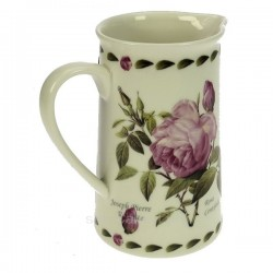 Pichet en porcelaine fine bonne china décor roses rose Collection Pierre Redoute, reference CL50190048