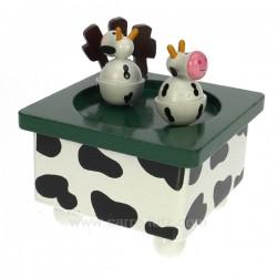 Vache danseuse en bois Carrousel manège et boite à musique CL50231036, reference CL50231036