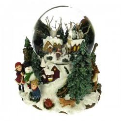 Scene hivernale Carrousel manège et boite à musique CL50231047, reference CL50231047