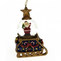 mini boule a neige pere Noel Carrousel manège et boite à musique CL50231054, reference CL50231054
