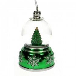 mini boule a neige verte Carrousel manège et boite à musique CL50231057, reference CL50231057