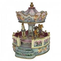 Manege anges avec ballustre Carrousel manège et boite à musique CL50231081, reference CL50231081
