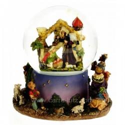 Boule de neige scintillante creche Carrousel manège et boite à musique CL50231089, reference CL50231089
