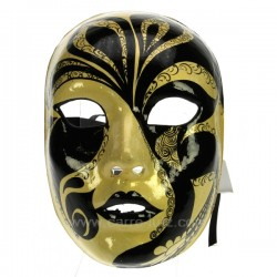 Masque Venise visage noir/or Masque de Venise CL50240270, reference CL50240270