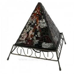 Lampe pyramide ambre Cadeaux - Décoration CL50250063, reference CL50250063