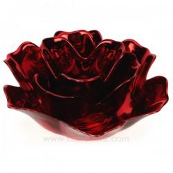 Bougeoir lotus rouge Cadeaux - Décoration CL50253004, reference CL50253004