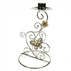 Bougeoir papillon Cadeaux - Décoration CL50253012, reference CL50253012