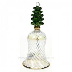 Clochette en verre sapin Cadeaux - Décoration CL55000001, reference CL55000001