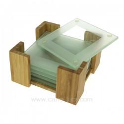 Dessous verre support bambou Arts de la table CL70000046, reference CL70000046