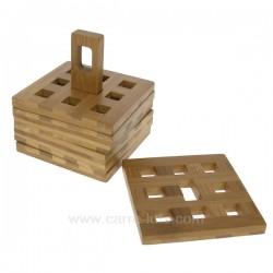 Dessous de verre bambou Arts de la table CL70000050, reference CL70000050
