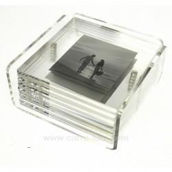 Dessous de verre porte photo Arts de la table CL70000051, reference CL70000051