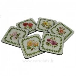 Dessous de verre par 6 Roses BotanicPimpernel, reference CL70000059