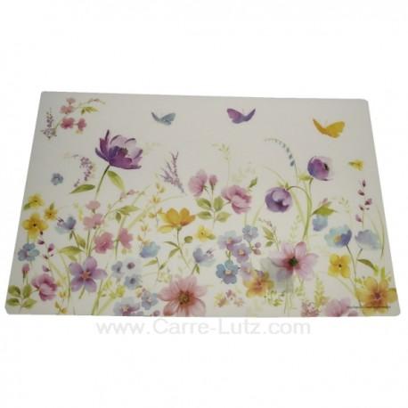 Set De Table En Plastique Souple Decor Fleurs Des Champs Ref Cl700
