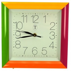 Horloge carre 4 couleurs Horlogerie CL80000113, reference CL80000113