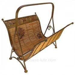 Porte revues fer et bambou Cadeaux - Décoration CL83000030, reference CL83000030
