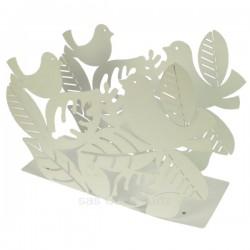 Porte revuesen métal peint époxy blanc Mascagni oiseaux sur branche, reference CL83000051