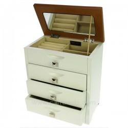 Coffret à bijoux en bois blanc dessus chêne clair, reference CL85000226