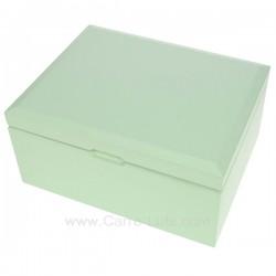 Coffret bijoux Yvonne vert en bois peint vert pâle intérieur suédine beige, reference CL85000286