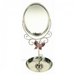 Miroir de coiffeuse papillon rose, reference CL85001013