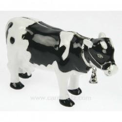 Boite métal émaillé avec strass vache avec cloche, reference CL85002012