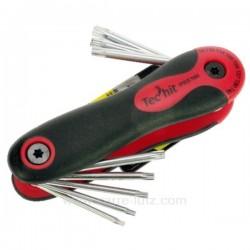 Jeu de 8 clés torx percées sur monture bi matière T9 à T40 , reference FC35001