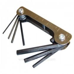 Jeu de clés 6 pans sur monture , reference FC35002