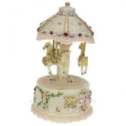 Carrousel rose avec strass et lumière en polyrésine , reference CL50231132