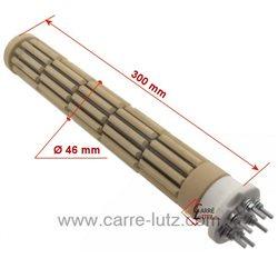 Résistance de chauffe-eau stéatite à barillets 47X325mm 1800W tous courants Monophasé ou triphasé Longueur sous tête 325 mm ...