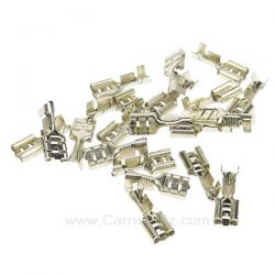 20 Cosses femelles 6,3 mm Inox , reference 732046