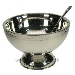 Vasque à champagne ou punch en inox martelé , reference CL21020206