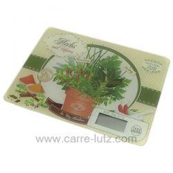 Balance de cuisine électronique extra plate décor herbes et épices , reference CL50156125