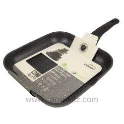 Poele grill carré 28x28 cm en fonte d'aluminium Eco Piedra Lacor 24129 , reference 991LC24129